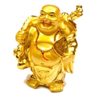 Bild von 5cm gold Buddha Figur Besinnlichkeit - Fächer