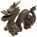Bild von Drachen Figur schwarz 12 cm