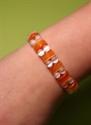 Bild von Doppelarmband Katzenauge Armband Orange-weiss