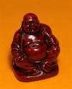 Bild von 9 cm rot Buddha Figur Weisheit