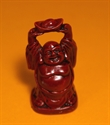 Bild von 9 cm rot Buddha Figur Wohlstand