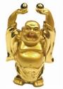 Bild von 9 cm gold Buddha - Ausgeglichenheit - 2 Kugeln