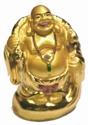 Bild von 9 cm gold Buddha - Schutz auf Reisen- Wanderstock