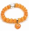 Bild von Armband feuer orange mit Herzanhänger