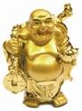 Bild von 9 cm gold Buddha - Glückseeligkeit - Glücksbringer