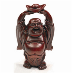 shaolin merchandising shop buddha figur mit schale in den h nden rot 5cm. Black Bedroom Furniture Sets. Home Design Ideas