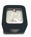 Bild von Halskette mit weißem Perlmutt Buddha