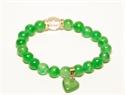 Bild von Armband grün mit Herzanhänger