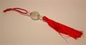 Bild von Kristallanhänger mit Glückszeichen rot