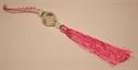 Bild von Kristallanhänger mit Glückszeichen pink