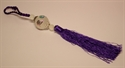 Bild von Kristallanhänger mit Glückszeichen lila