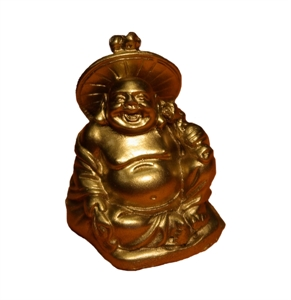 Bild von 5cm gold Buddha Figur Harmonie - Sonnenschirm