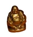 Bild von 5cm gold Buddha Figur Glückseligkeit - sitzend