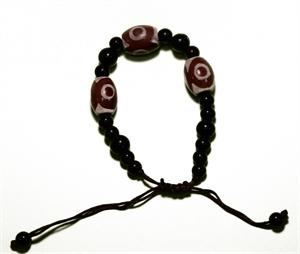 Bild von Verstellbares Armband mit drei Perlen