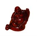 Bild von 9 cm rot Buddha Figur Glückseligkeit