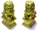 Bild von Torwächter - Löwenpaar gold