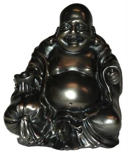 Bild von Glücksbuddha bronzefarben 10 cm