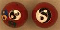 Bild von Rot 3er Logo Yin-Yang Zeichen