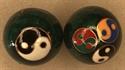 Bild von Grün 3er Logo Yin-Yang Zeichen